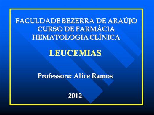 Curso Online de Leucemias