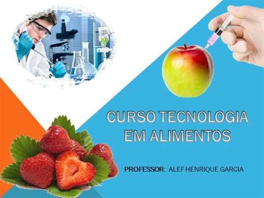 Curso Online de Intensivo Tecnologia em Alimentos