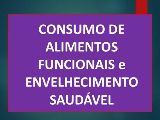 Curso Online de CONSUMO DE ALIMENTOS FUNCIONAIS e ENVELHECIMENTO SAUDÁVEL