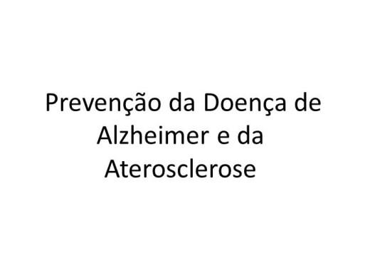 Curso Online de Prevenção da Doença de Alzheimer e da Aterosclerose