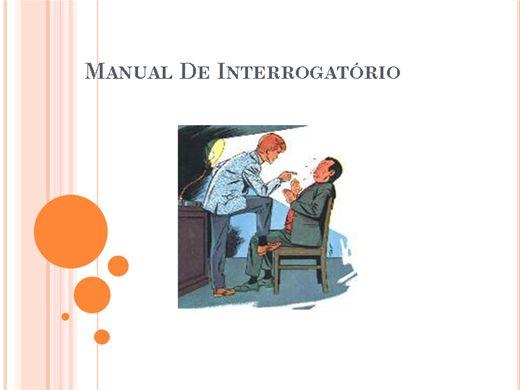 Curso Online de Manual de Interrogatório