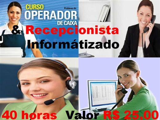 Curso Online de operador de caixa e recepcionista informátizado