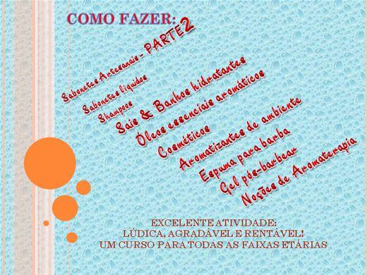 Curso Online de Banhos, sabonetes e cosméticos