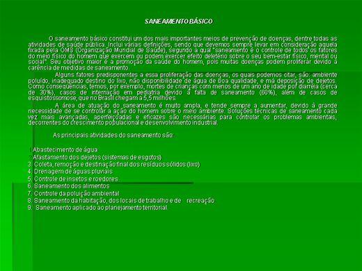 Curso Online de SANEAMENTO BÁSICO ( Comercio, Indústria, Domiciliar)