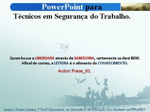 Curso Online de Power Point para Técnicos em Segurança do Trabalho (TST's).