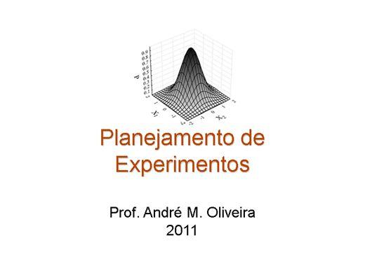 Curso Online de Noções de Planejamento Fatorial de Experimentos Aplicado a Processos Químicos