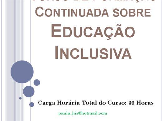 Curso Online de Formação Continuada sobre Educação Inclusiva