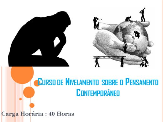 Curso Online de Nivelamento sobre o Pensamento Contemporâneo