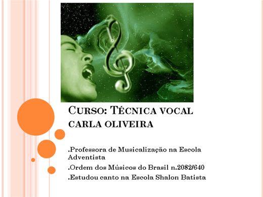 Curso Online de Técnica Vocal