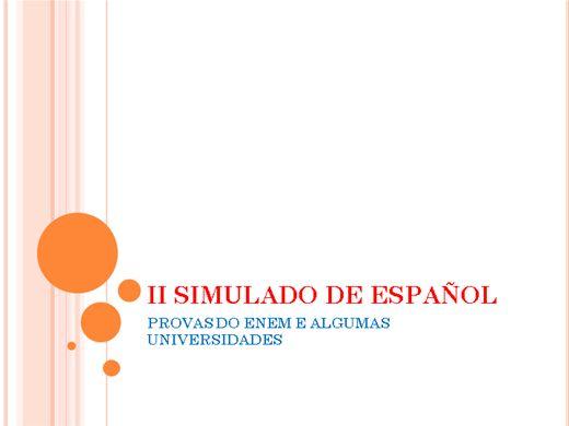 Curso Online de II SIMULADO DE ESPAÑOL PARA ENEM