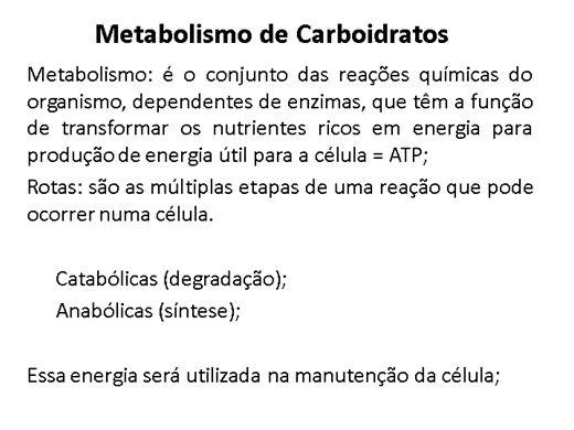 Curso Online de Metabolismo dos Carboidratos