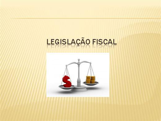 Curso Online de LEGISLAÇÃO FISCAL