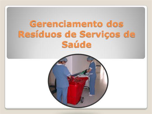 Curso Online de Gerenciamento dos Resíduos de Serviços de Saúde