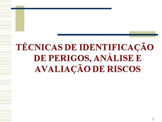 Curso Online de Técnicas de análise e avaliação de Riscos