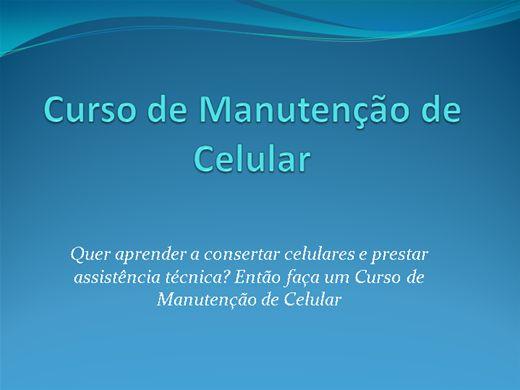 Curso Online de Manutençao de Celular
