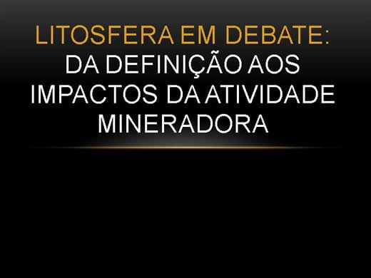 Curso Online de Litosfera em debate: Da definição aos impactos da atividade mineradora