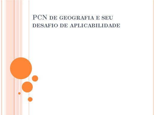 Curso Online de PCN de Geografia e seu desafio de aplicabilidade