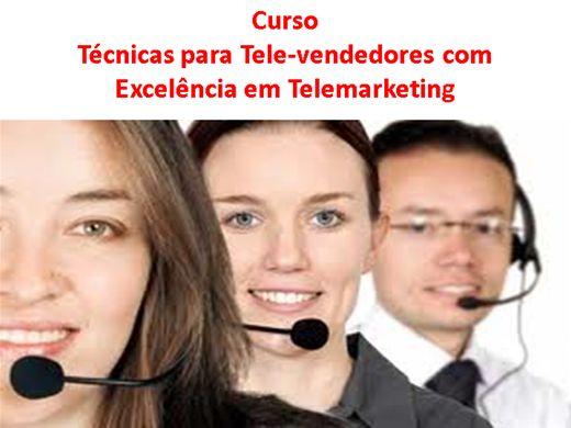 Curso Online de Técnicas para Tele-vendedores com Excelência em Telemarketing