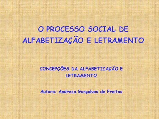Curso Online de O Processo Social de Alfabetização e Letramento