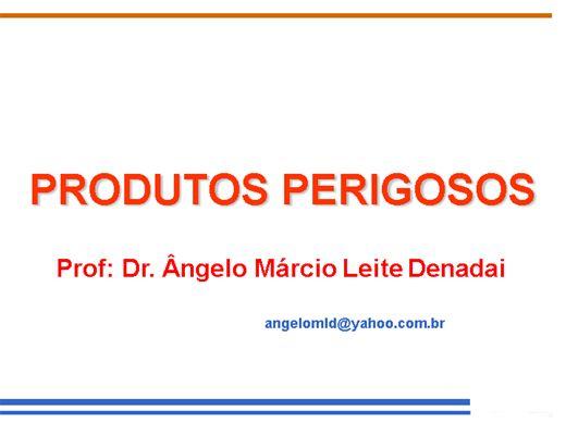 Curso Online de Produtos Perigosos - Parte I