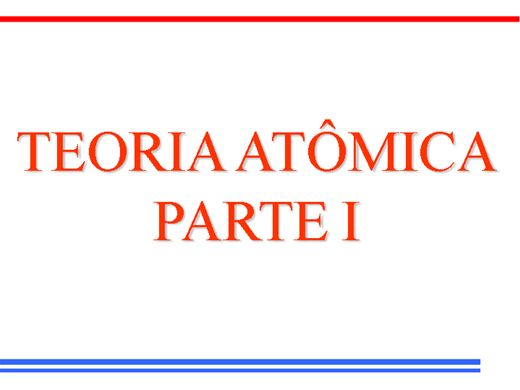 Curso Online de Teoria Atômica- Parte 1