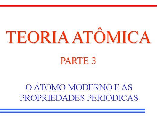 Curso Online de Teoria Atômica- Parte 3