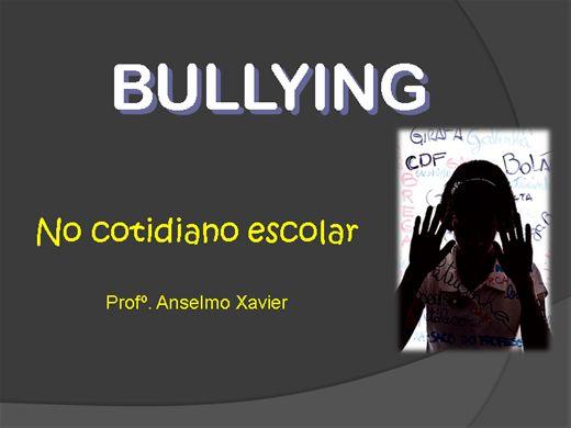 Curso Online de BULLYING NO COTIDIANO ESCOLAR