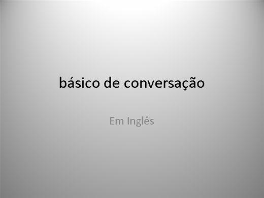 Curso Online de Conversação Básica em Inglês