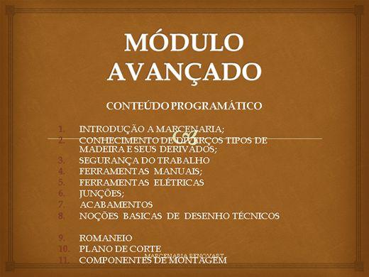 Curso Online de CURSO DE MARCENARIA AVANÇADA 1º AULA