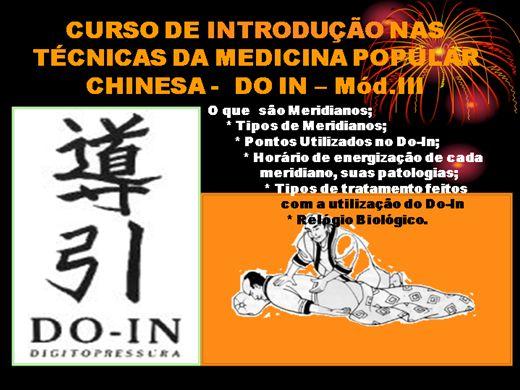 Curso Online de Introdução as Massagens Terapeuticas Do-In Mód. III