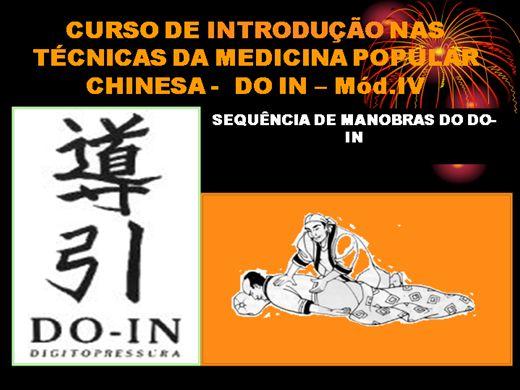 Curso Online de CURSO DE INTRODUÇÃO AS TÉCNICAS TERAPEUTICAS - DO IN-mod.IV