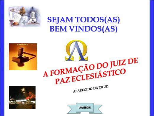 Curso Online de A FORMAÇÃO DO JUIZ DE PAZ ECLESIÁSTICO