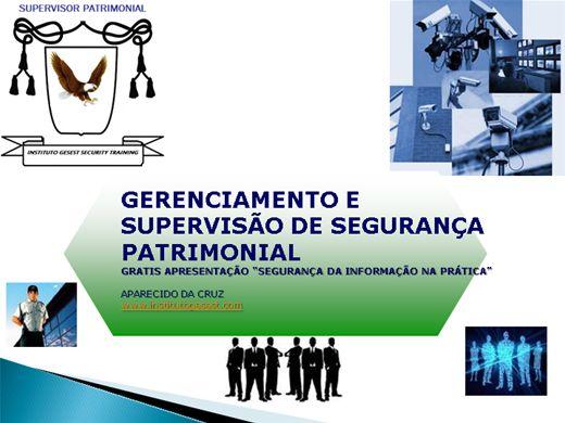 Curso Online de GERENCIAMENTO E SUPERVISÃO DE SEGURANÇA PATRIMONIAL