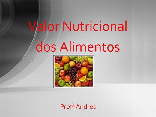 Curso Online de Valor nutricional dos alimentos