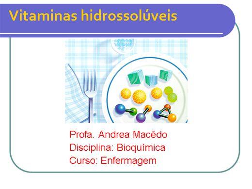 Curso Online de Vitaminas Hidrossolúveis