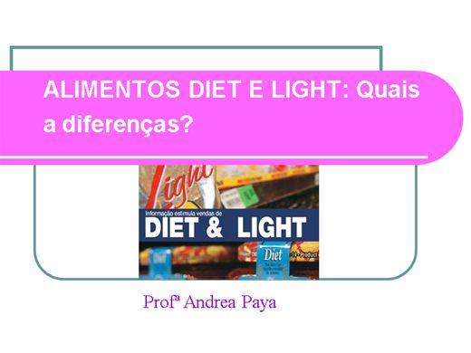 Curso Online de ALIMENTOS DIET E LIGHT qual a diferença