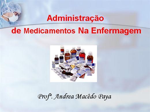Curso Online de Administração de Medicamentos na Enfermagem
