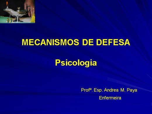 Curso Online de Psicologia: Mecanismos de Defesa
