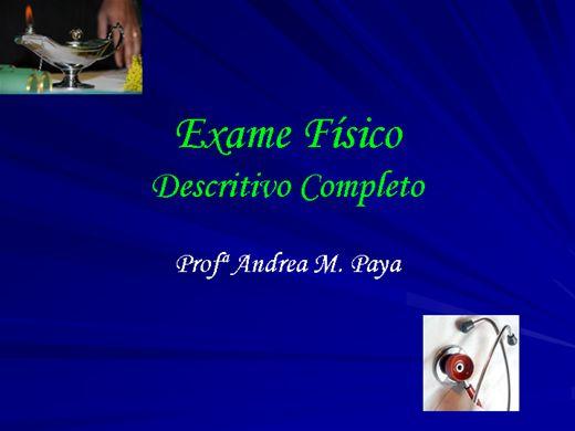 Curso Online de Exame Físico: Descrição Completa
