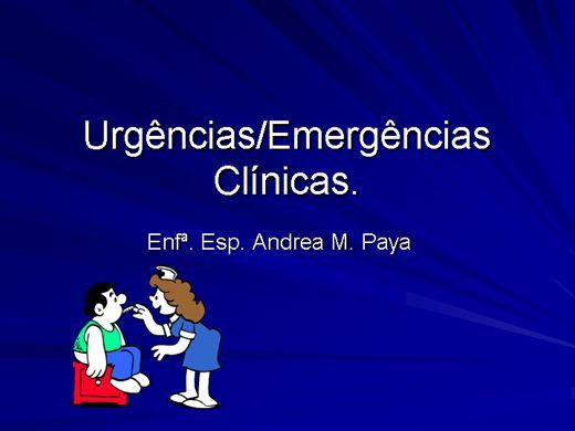Curso Online de URGÊNCIAS E EMERGENCIAS CLÍNICAS