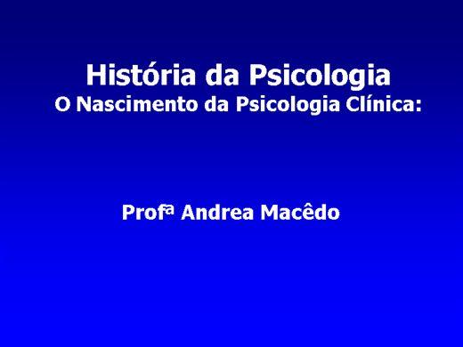 Curso Online de Historia da psicologia clinica