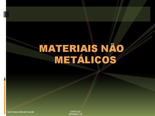 Curso Online de Materiais Plásticos ou Não Metalicos Unidade 1