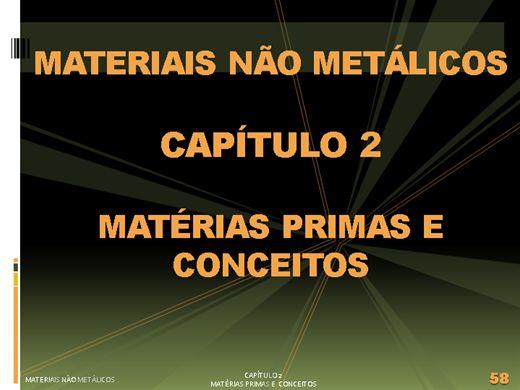 Curso Online de Materiais Plásticos ou Não Metalicos Unidade 2