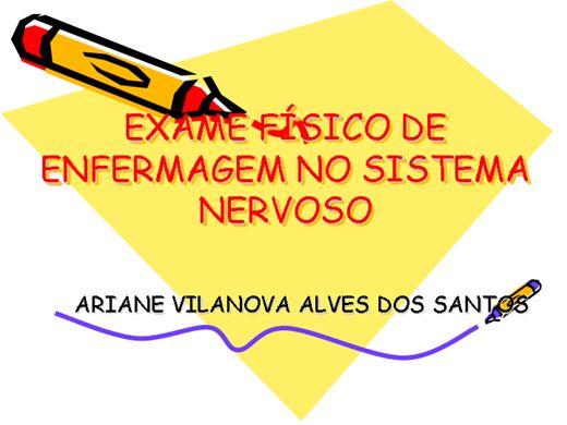 Curso Online de Exame físico de enfermagem no sistema nervoso