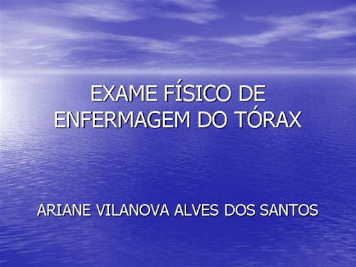 Curso Online de Exame físico de enfermagem: Tórax, Mama e Axilas.