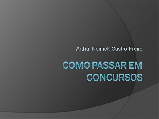 Curso Online de Como Passar em Concursos