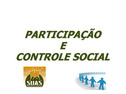 Curso Online de PARTICIPAÇÃO  E CONTROLE SOCIAL