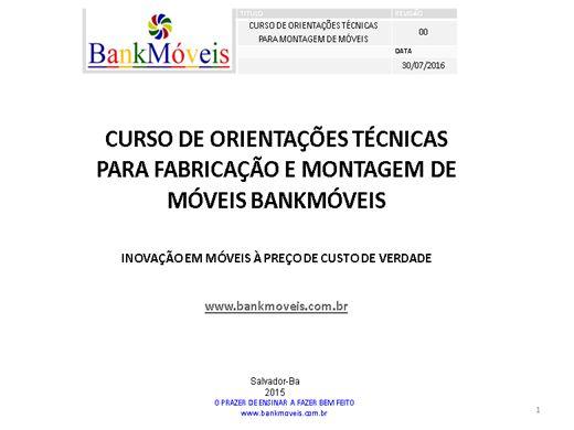 Curso Online de CURSO DE ORIENTAÇÕES TÉCNICAS PARA MONTAGENS DE MÓVEIS