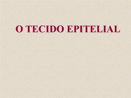 Curso Online de O Tecido Epitelial