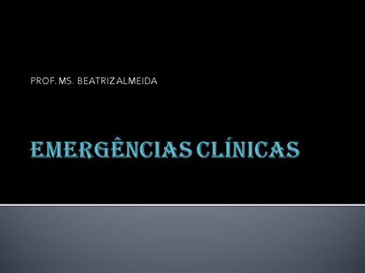 Curso Online de EMERGÊNCIAS CLÍNICAS
